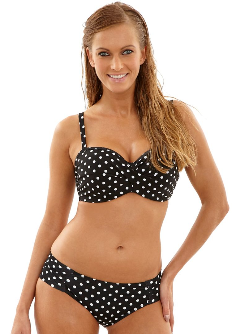 Anya Spot Bandeau Bikini Top